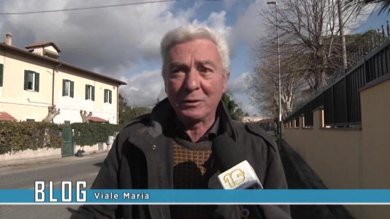 Maccarese Viale Maria dissestata
