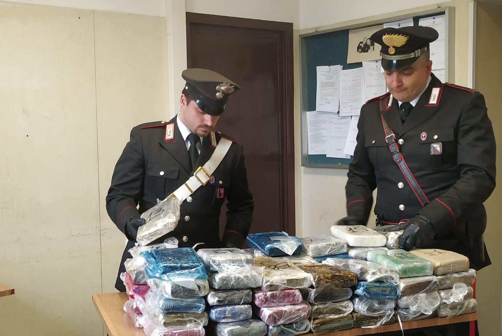 La droga sequestrata dai carabinieri di Ostia