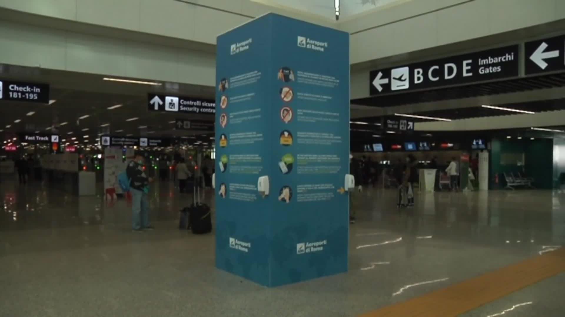 Fiumicino, la pandemia colpisce il settore aeroportuale