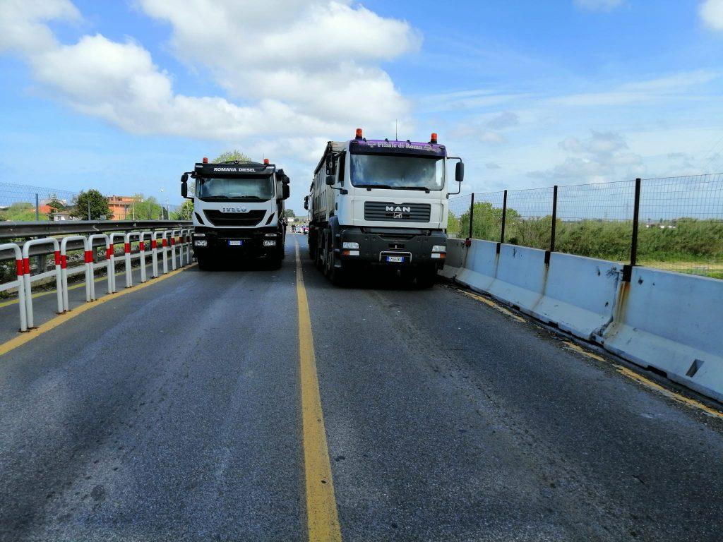 Fiumicino: Chiusura Ponte della Scafa. Ottimi i primi risultati delle prove di carico 2