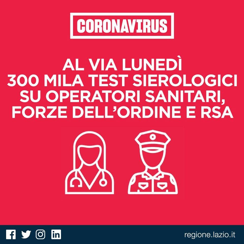 Coronavirus: Al via lunedì 300mila test sierologici su operatori sanitari, forze dell'ordine e RSA 8