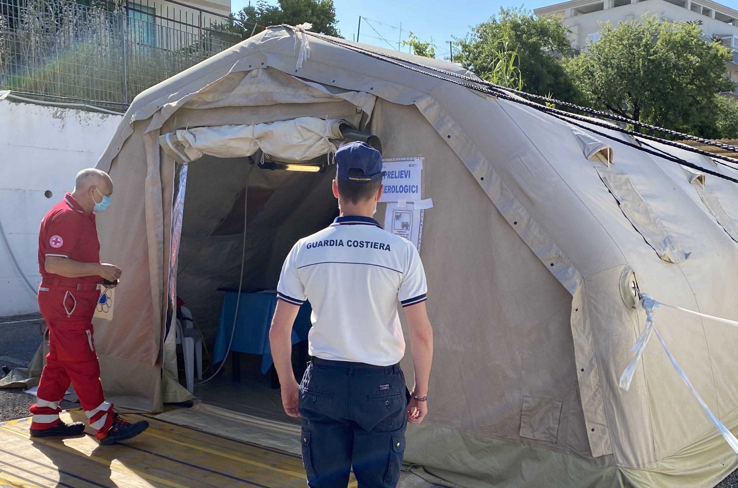 Test sierologici per la Guardia Costiera