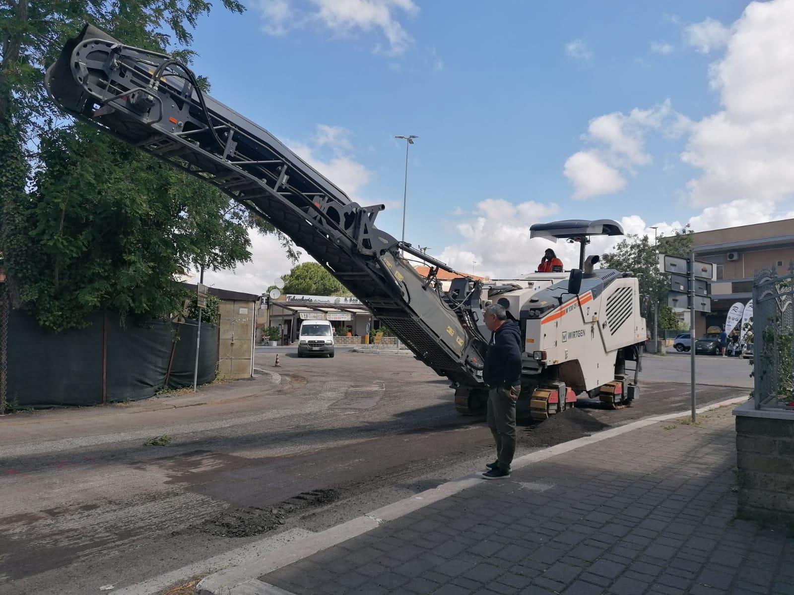 Comune di Fiumicino: lavori sulle strade