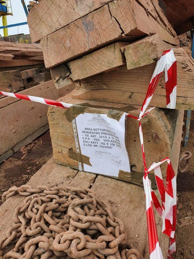 Fiumicino: sequestrato un cantiere navale. Era stato adibito a discarica abusiva 1