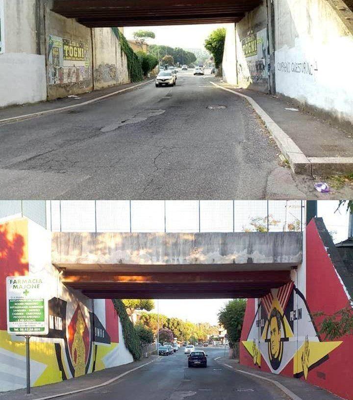 Casal Bernocchi: l'ultimo capolavoro di street-art realizzato dal Collettivo La Talpa 2
