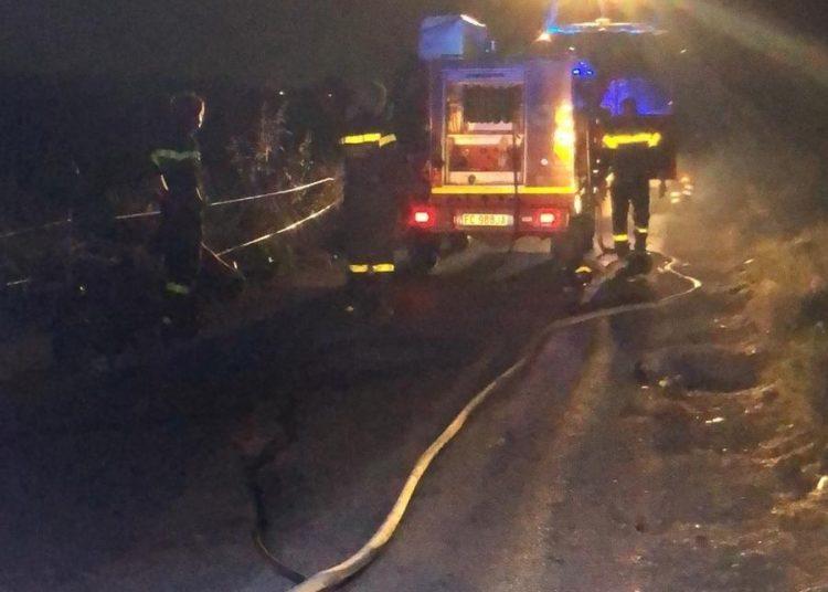 Fiumicino: fiamme in Via Costalunga. 2