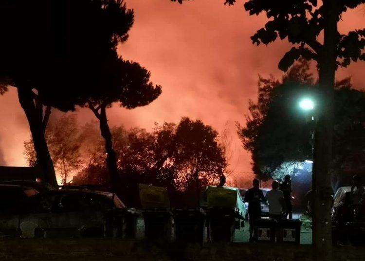 Acilia: incendio a Villaggio San Giorgio 2