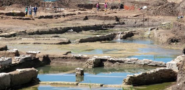 Via Ostiense. Rinvenuta un'antica vasca monumentale di ben 40 metri 2