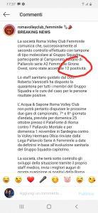 Sport: cluster alla Roma Volley