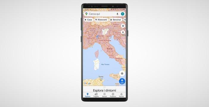 La mappa di Google sul Covid-19