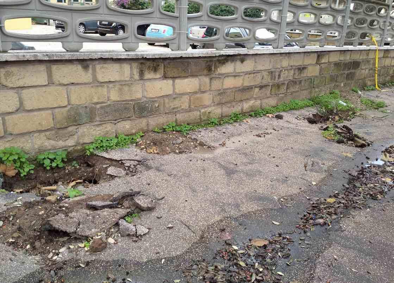 Ostia, Stella Polare: i marciapiedi del quartiere sono impraticabili 1