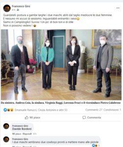 """Sindaca e nuovi assessori: """"Inguardabili"""". Caduta di stile del senatore Francesco Giro (Lega) 1"""