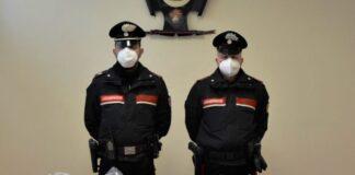 Cocdfaina sequestrata dai carabinieri