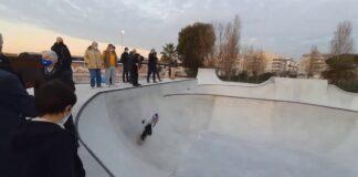 Prove allo skatepark di Ostia