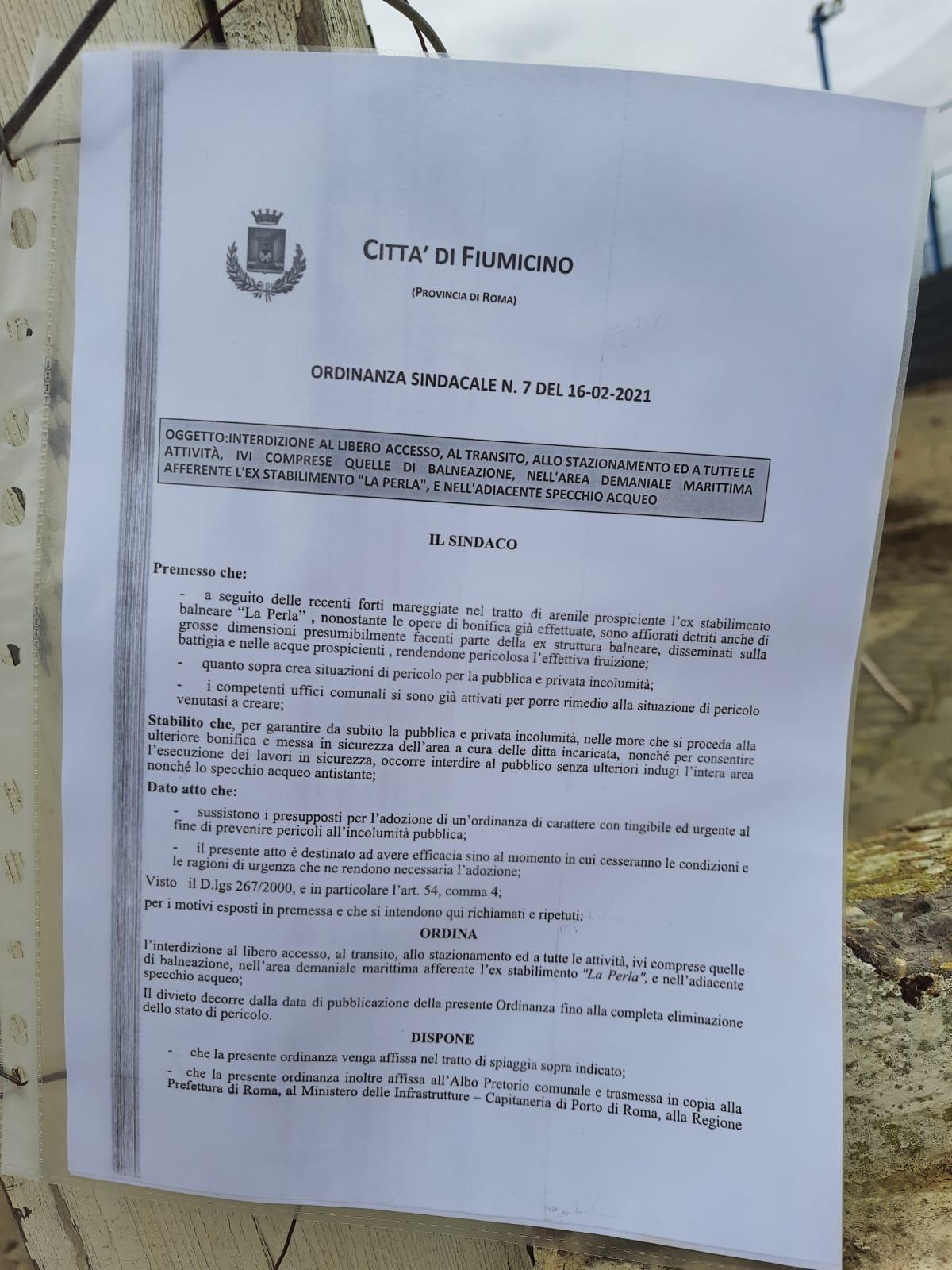 Fregene: vietato l'accesso all'ex stabilimento La Perla 1