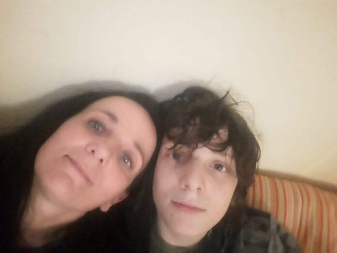 Riccardo Pica con mamma Daniela