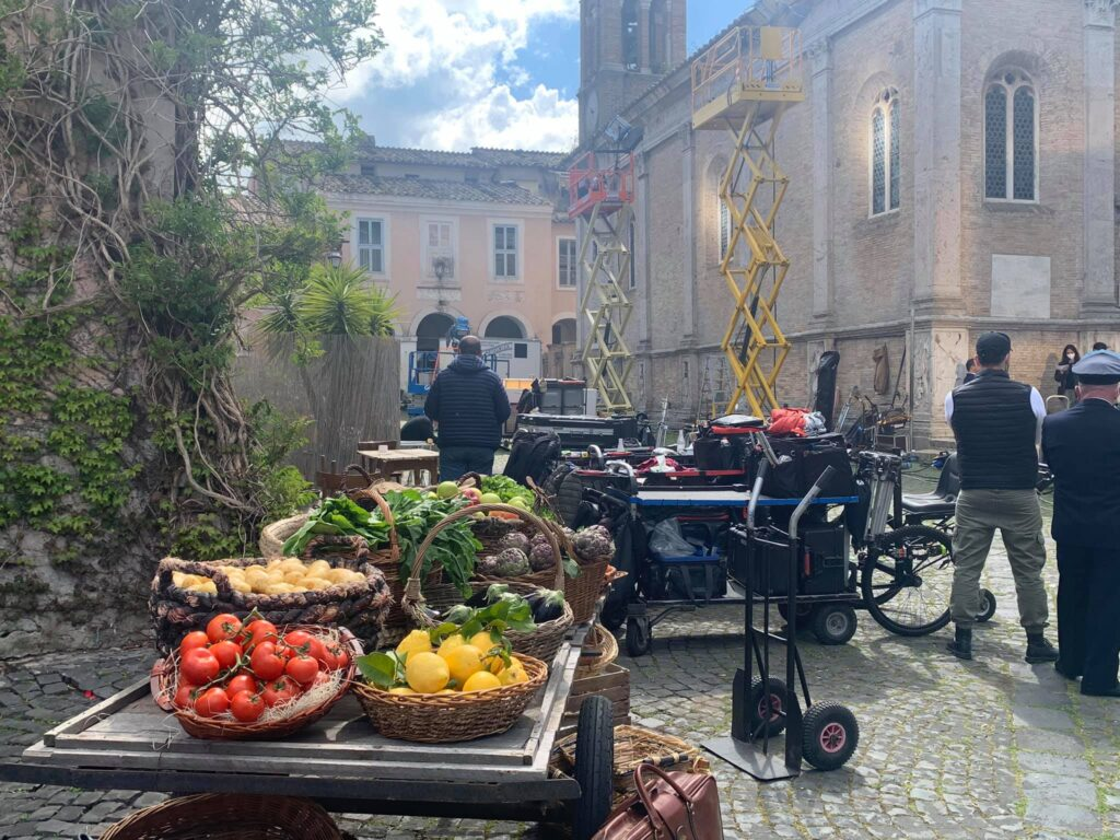 Il Borgo di Ostia Antica, set dell'ultimo film con Pierfrancesco Favino 1