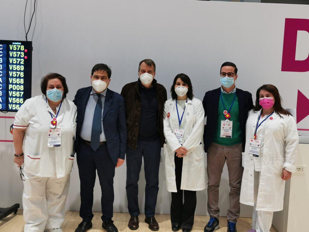 Marco Tardelli alla Nuvola dell'EUR, per la prima dose di AstraZeneca 2