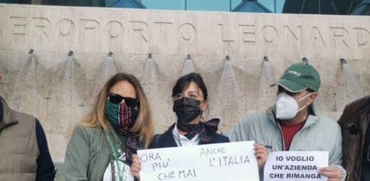 Alitalia sit in a Fiumicino