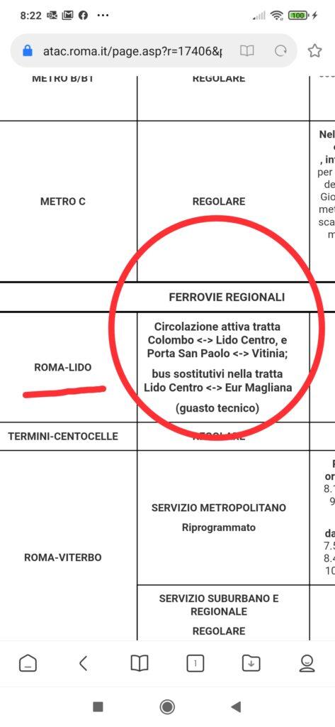 Roma-Lido interrotta per guasto tecnico 1