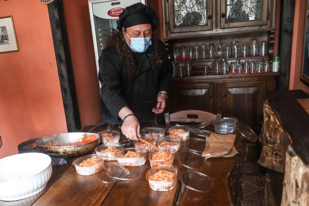 12 kg di bucatini all'Amatriciana Day, la protesta contro la chiusura dei ristoranti (VIDEO) 1