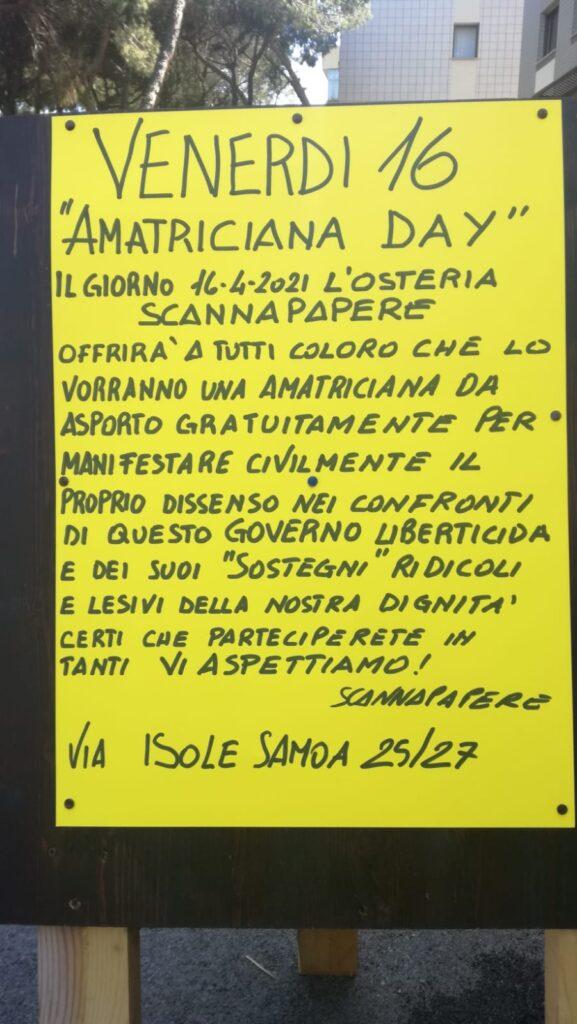 Ostia, un'amatriciana gratis per protesta contro la chiusura dei ristoranti 1