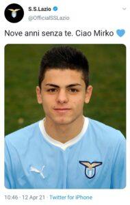 Mirko Fersini, il ricordo della Lazio per il giovane che morì a Fiumicino 1