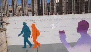 Ostia: gli studenti del litorale realizzano un murale di 93 metri (VIDEO) 1