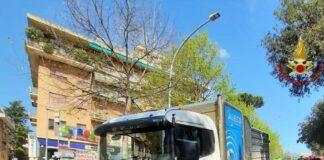 camion voragine colli portuensi