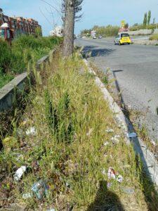 Litorale: slalom tra rifiuti, buche ed erbacce tra i marciapiedi dissestati (VIDEO) 4