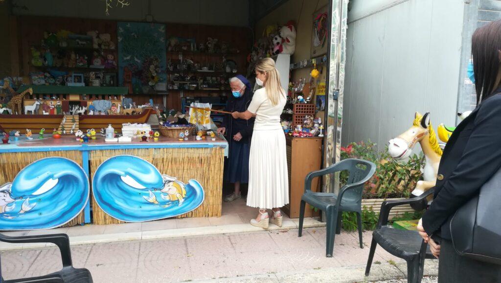 La first lady argentina al Park Lido sulle orme di Papa Francesco 2