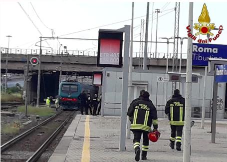 Linea ferroviaria interrotta per un investimento nella stazione Tiburtina 1