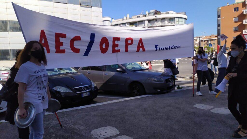 """Fiumicino, le assistenti educative AEC: """"Più diritti e meno incertezze"""" (VIDEO) 1"""