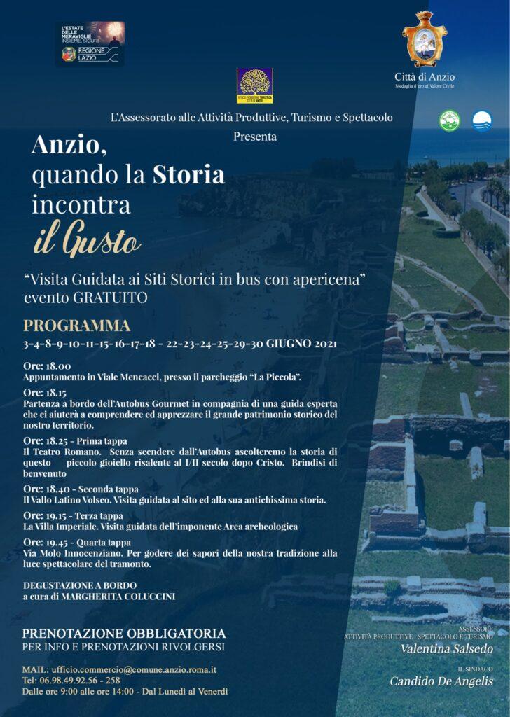 Al via Anzio Estate Blu 2021: sedici eventi gratuiti tra storia e cucina 1