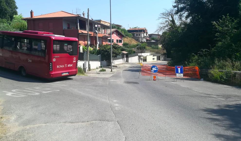 Pochi rami invadono la carreggiata su via Portuense: la strada è chiusa da cinque giorni (VIDEO) 1