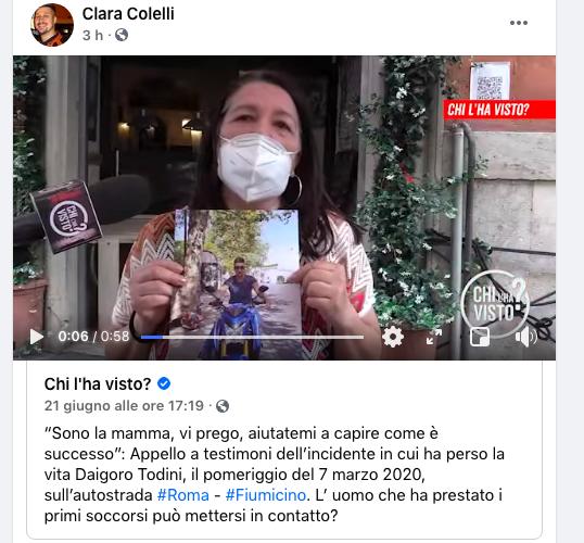 """Muore in un incidente sulla Roma-Fiumicino. La mamma: """"aiutatemi a capire cosa è successo"""" 1"""