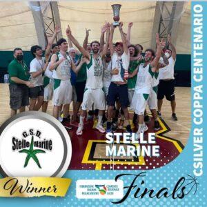 Basket: le Stelle Marine vincono la Coppa Centenario C2 2