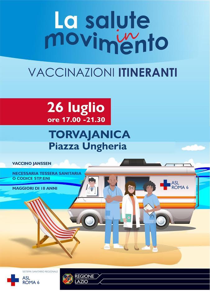 Pomezia, arriva la campagna di vaccinazione itinerante anti-Covid della Asl Roma 6 1