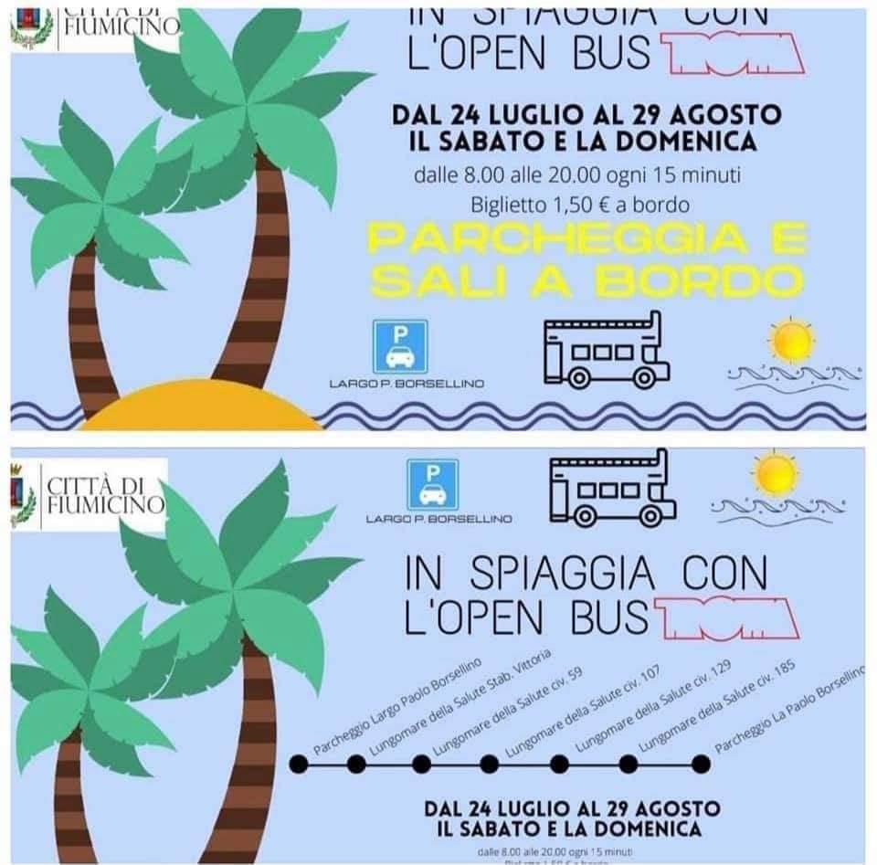 Da oggi Open bus a Fiumicino: dal parcheggio alla spiaggia ammirando il panorama 1
