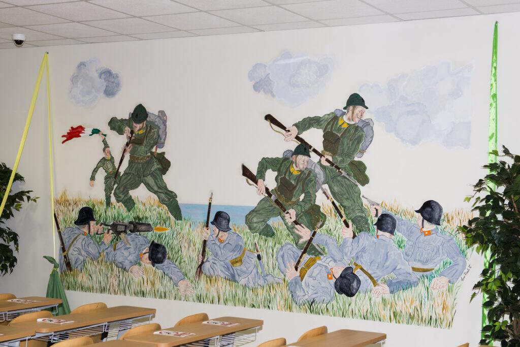 murale guardia di finanza