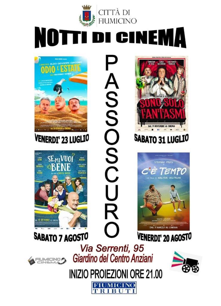 """Arene in tour: ecco le """"Notti di cinema"""" del Comune di Fiumicino - Il programma 2"""