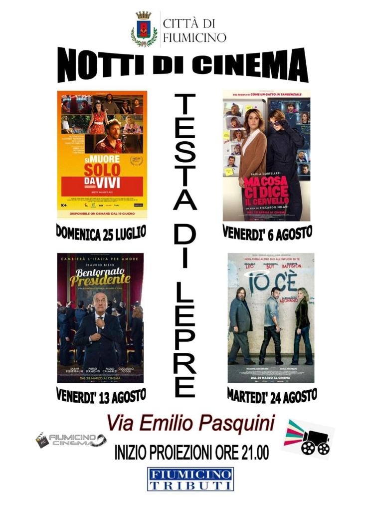 """Arene in tour: ecco le """"Notti di cinema"""" del Comune di Fiumicino - Il programma 3"""