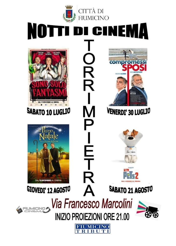 """Arene in tour: ecco le """"Notti di cinema"""" del Comune di Fiumicino - Il programma 1"""