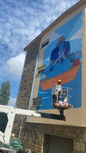 Street art: ecco i maxi murales sulle facciate dei lotti popolari a Fiumicino 2