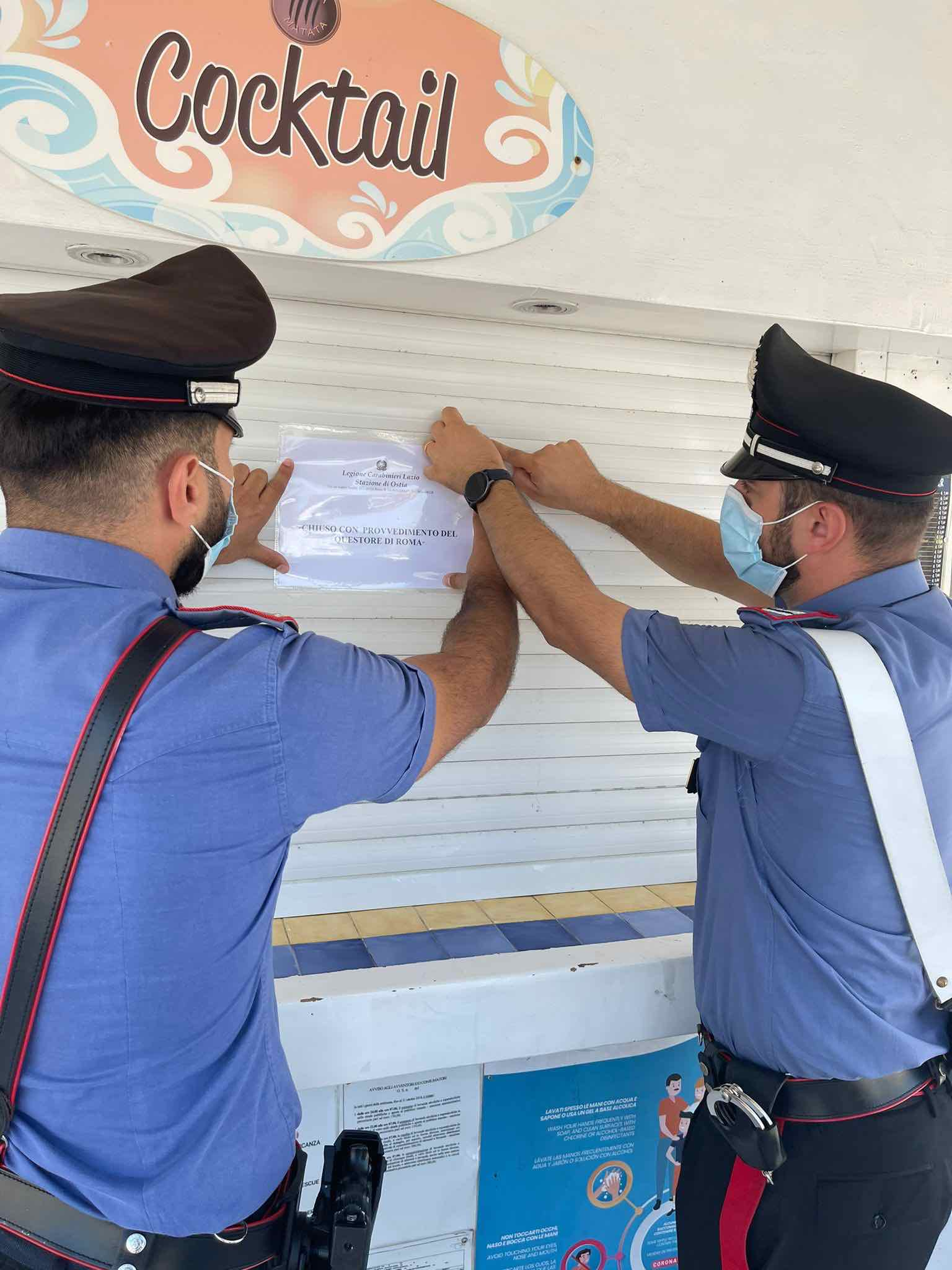 chiuso chiosco hakuna matata carabinieri