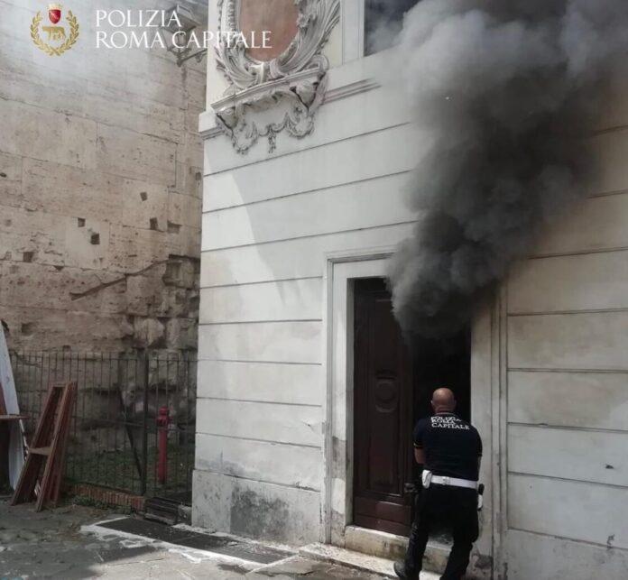 incendio museo via ostiense