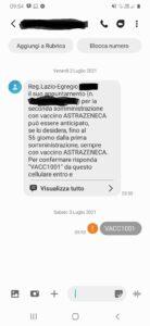 Vaccini. La Regione invia sms per anticipare richiami Astrazeneca: ma rispondere è impossibile 1