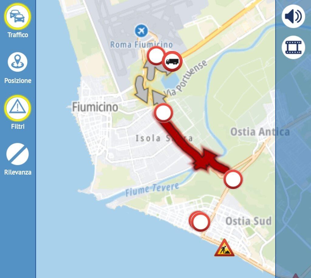 Per un banale incidente traffico impazzito tra Ostia e Fiumicino (VIDEO) 1