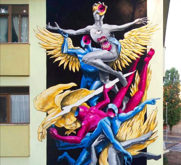 Fiumicino: nove murales per dare un volto nuovo a Villaggio Azzurro 1