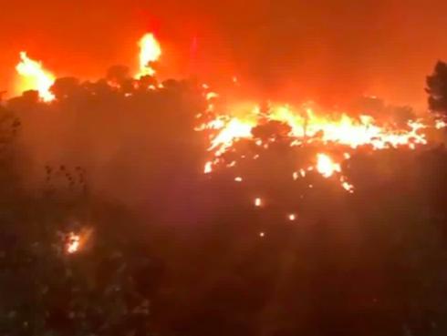 Incendio a nord di Tivoli: evacuata la Comunità Don Bosco (VIDEO) 1